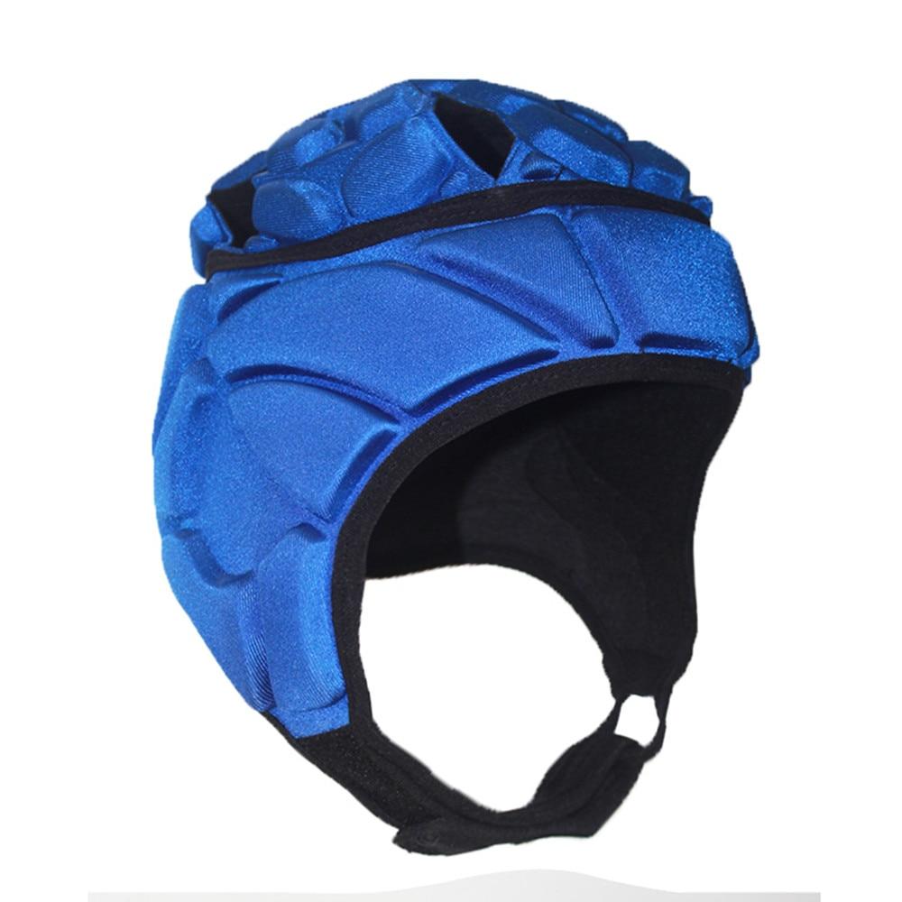 Мужская Профессиональная футбольная шлем вратаря, Футбольная Спортивная Толстая губчатая шапка из ЭВА для регби, защитная головка для голо...