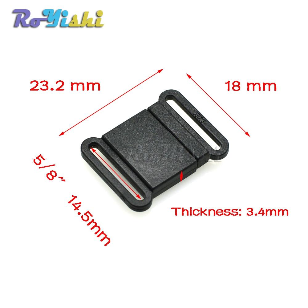50pcs/pack Plastic Black Safty Breakaway Buckles For Paracord Webbing 15mm Garment Accessories