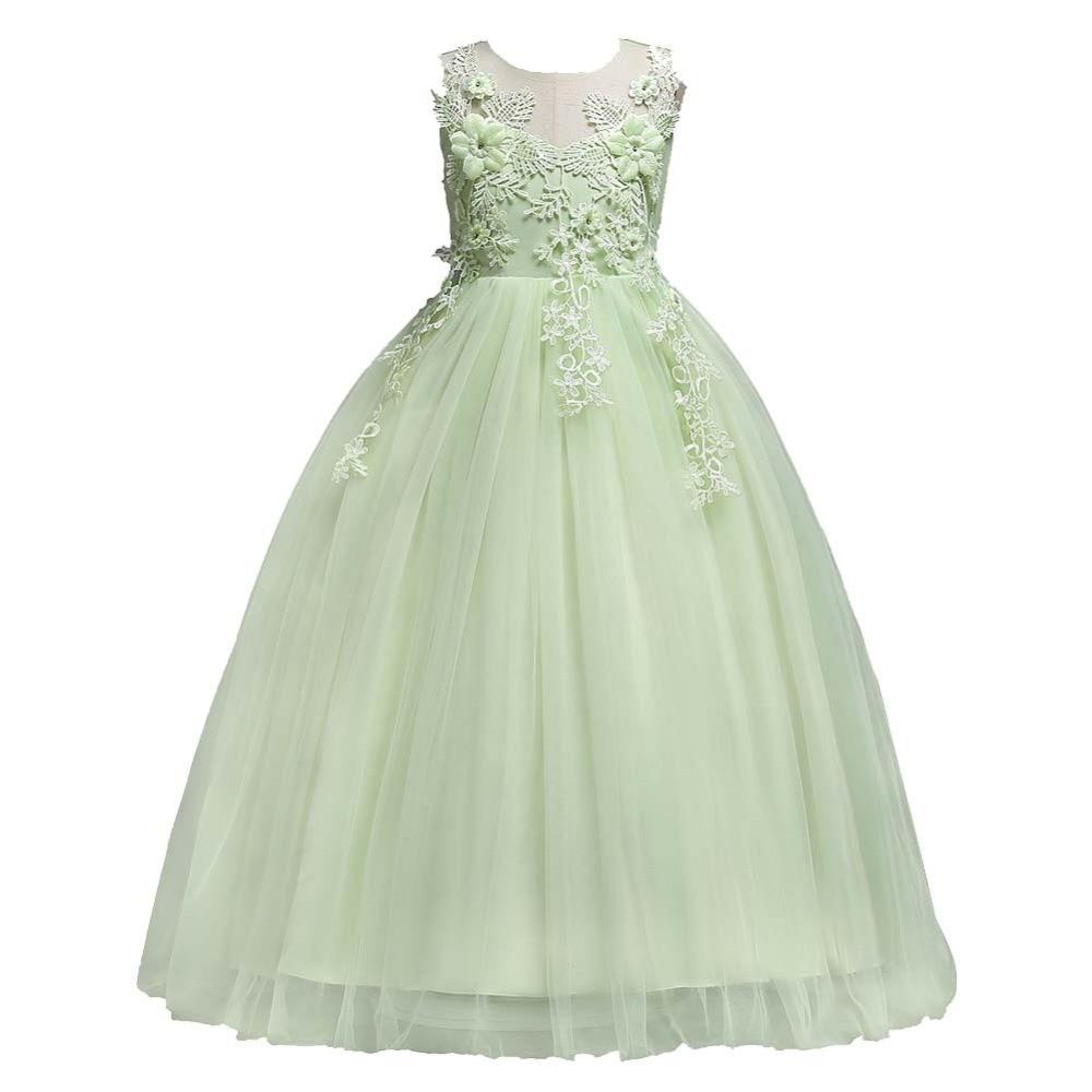 Vestidos Para Meninas de 11 anos das Criancas Elegante Vestido de noche Vestido de novia de Flor Princesa Adolescente Vestido de Traje