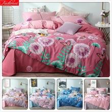 Plant Flower Pink Pattern Duvet Cover 3/4 pcs Bedding Set Adult Kids Child Soft Cotton Bed Linen King Queen Full Size Bedspreads