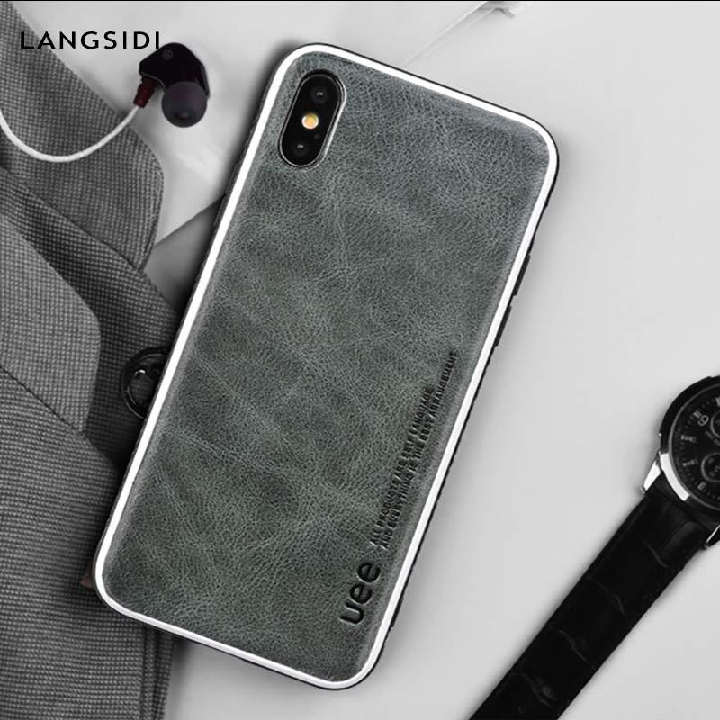 Funda de teléfono de alta calidad de cuero genuino para el iphone 8 Plus 6 7 XSmax XR todo incluido funda protectora de moda para iphone x