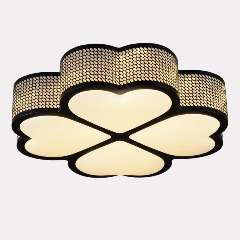 Lámpara de techo moderna LED para chico, lámpara de techo de aluminio, trébol de cuatro hojas, luces de techo para sala de estar, Panel acílico, techo de estudio lámpara