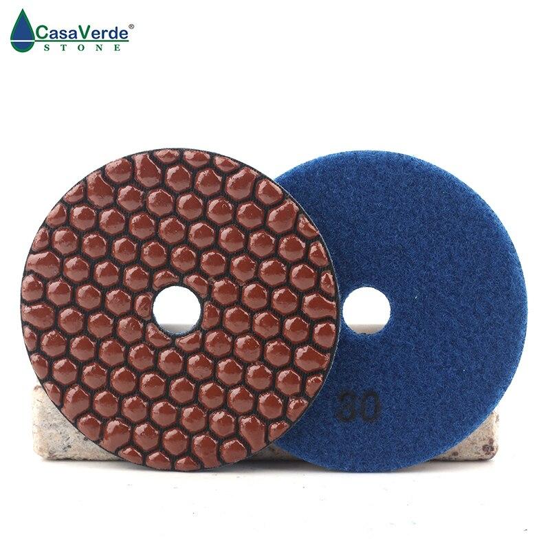Grit 30# 4 inch 100mm diamond flexible dry polishing pads disc for stone concrete недорого