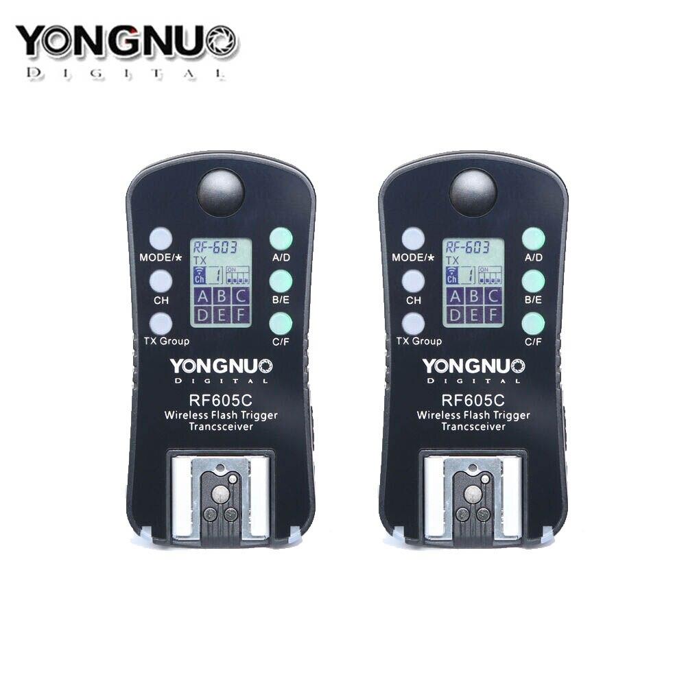 Беспроводная вспышка YONGNUO RF605 RF605C, с ЖК-дисплеем, для Canon, поддержка RF603II YN568EXII YN685 YN560IV YN660 YN560III