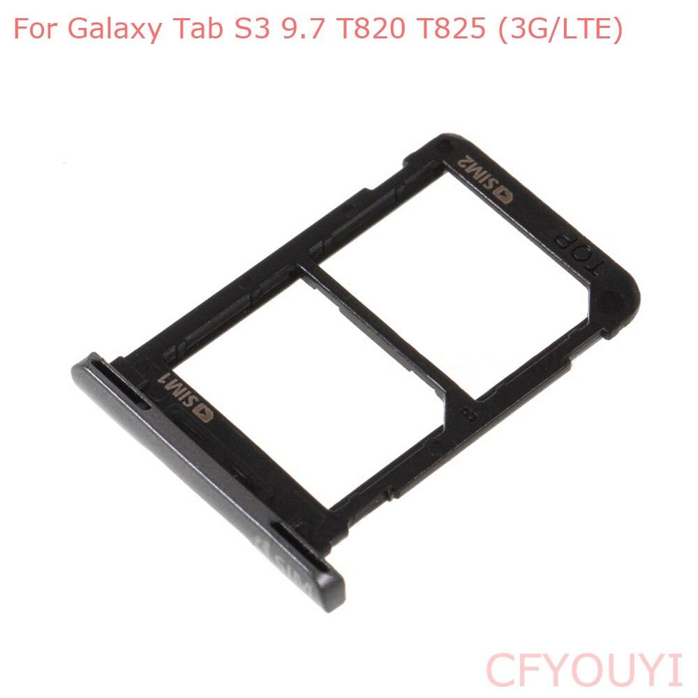 Para Samsung Galaxy Tab S3 9,7 T820 T825 (3G/LTE) bandeja de tarjeta SIM dual soporte de ranura parte