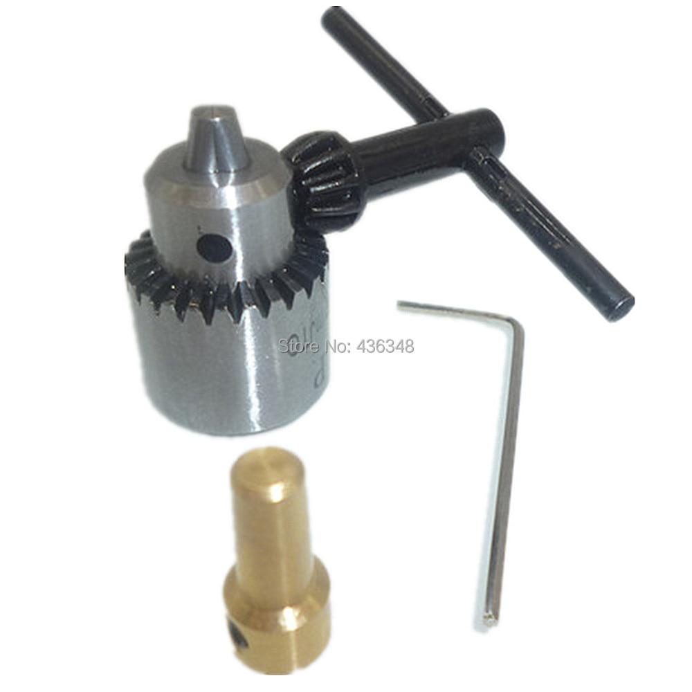 Watchmakers Mini Electric Drill Chucks Mount 0.3mm-4mm Jt0 Taper Small Micro Drills Clamp + 3.17mm Brass Motor Shaft + Chuck Key