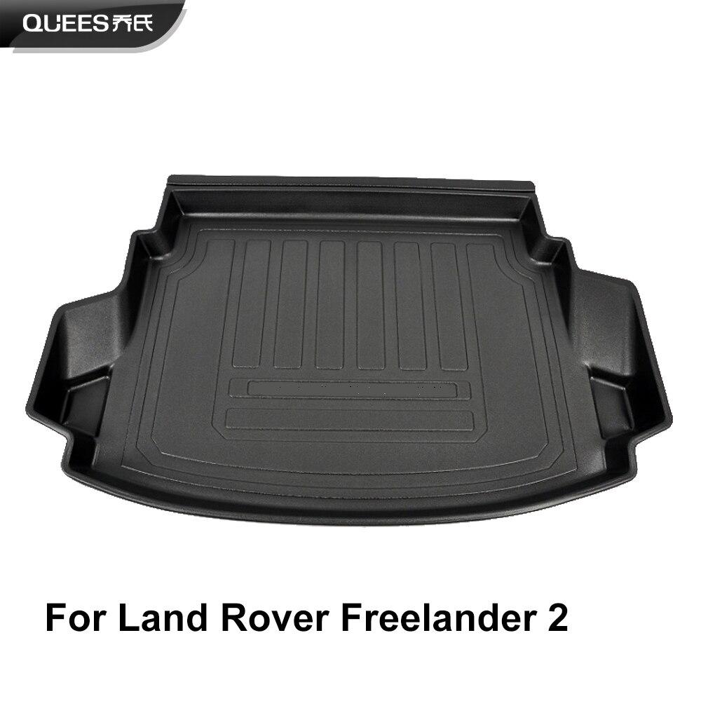 QUEES Custom Fit mata do wyłożenia podłogi bagażnika dywan wycieraczka do bagażnika dla Land Rover Freelander 2 ( L359 ) 2006 2007 2008 2009 2010 2011 2012 2013 2014