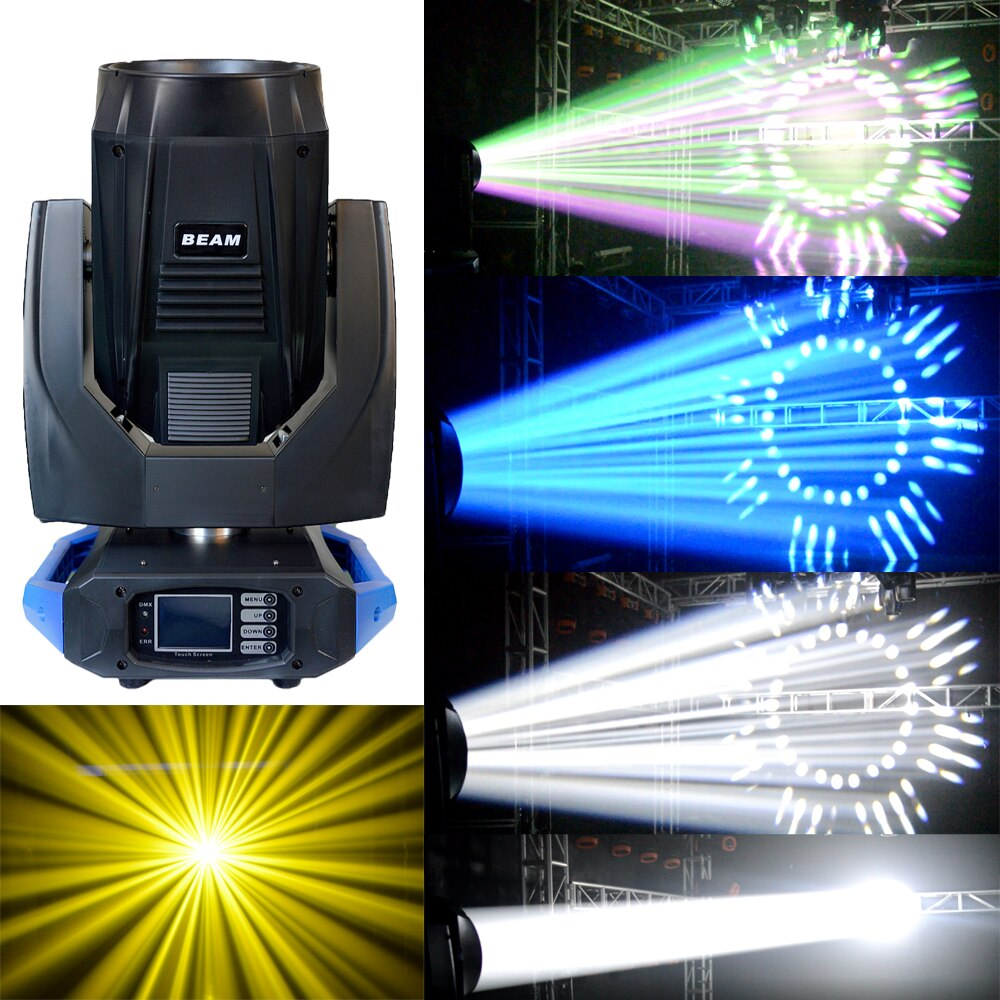 2pcs lights plus flycaes 17R Sharpy 3in1 350w Moving Head Beam Light Double Prisms For Stage Effect Dj Night Club Wedding