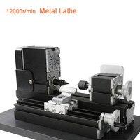 Mini Lathe Machine 12000r/min 110V-240V saw Workbench area 90*90mm Tool metal plate