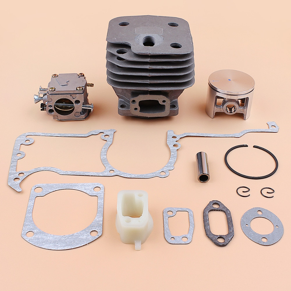 52MM BIG BORE Cylinder Piston Carburetor Full Gasket Kit for Husqvarna 268 272 272K 272XP 61 Chainsaw Engine Rebuild Kit