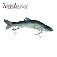 mmlong 6 539g new pike fishing lure lifelike crankbait multi jointed swimbait realistice hard fish bait tackle pesca mml12b