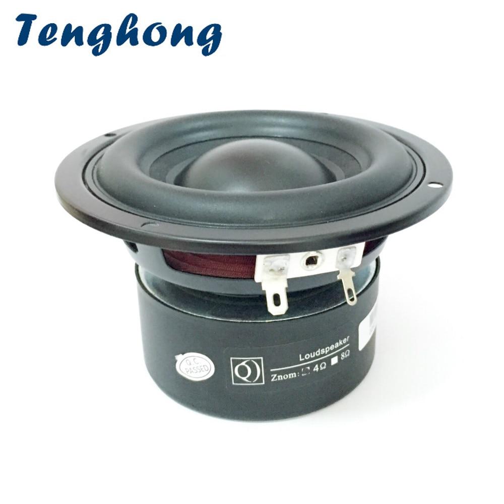 Sighong, 1 Uds., Subwoofer de 4 pulgadas, 4/8 Ohm, 40 W, altavoces de Audio portátiles, altavoces de bajos de rango medio, altavoz Multimedia para cine en casa