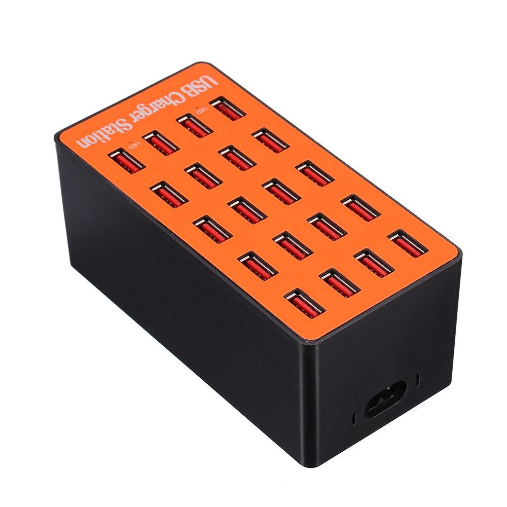 100W 20 puertos USB adaptador/cargador de pared estación de carga inteligente con Auto detección Tech enchufe plegable para estación de carga centralizada