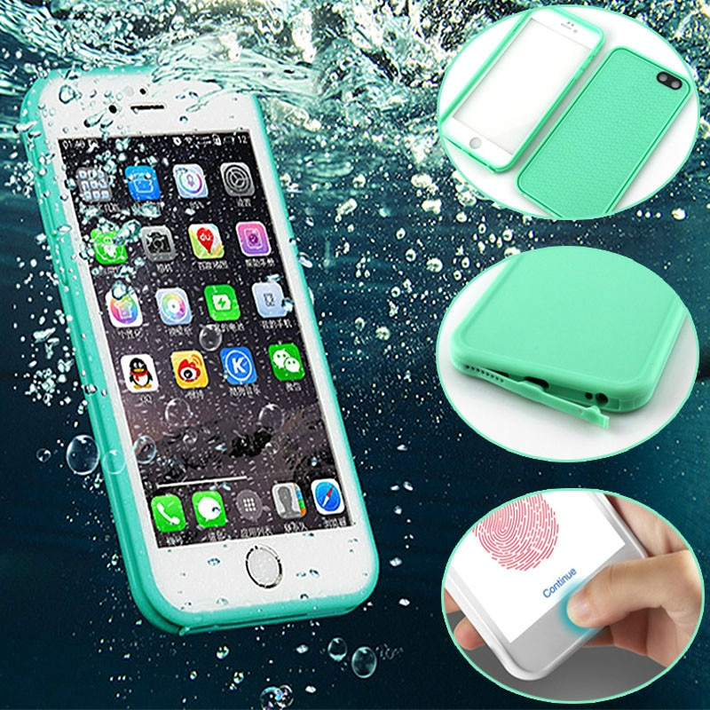 Luxo 360 cobertura completa à prova de choque caso do telefone à prova dshockproof água para o iphone 6s 7 8 plus x xs max xr tpu caso mergulho subaquático capa