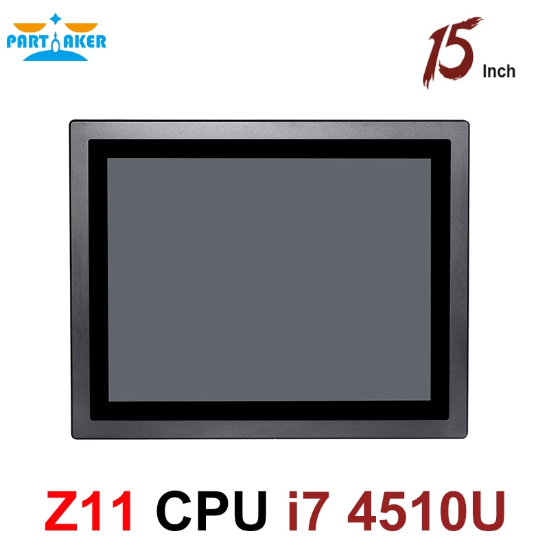 All in one pc 15 inch touch screen industrial tablet pc IP65 Intel core i7 4510U 4600U dustproof and waterproof for Kiosk