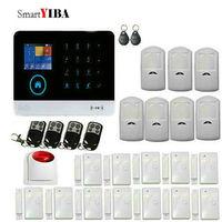 SmartYIBA Wireless WiFi GSM SMS Home Burglar Fire Alarm Security System Android iOS App with PIR sensor and Wireless FlashSiren