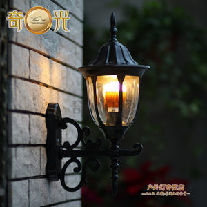 warm white outdoor wall lamp mount balcony led porch light vintage Europe style waterproof led garden lights black/bronze