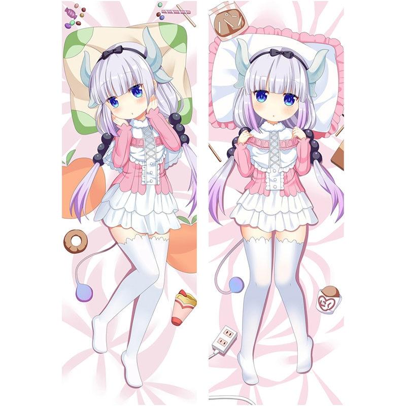 Anime kobayashi-san Chi pas de femme de chambre Dragon taie doreiller Sexy 3D Double face literie taie doreiller personnaliser 2