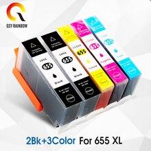 CMYK LIEFERT 5Pcs Kompatibel 655 xl ersatz für hp 655 für hp 655 für hp deskjet 3525 5525 4615 4625 4525 6520 6525 6625
