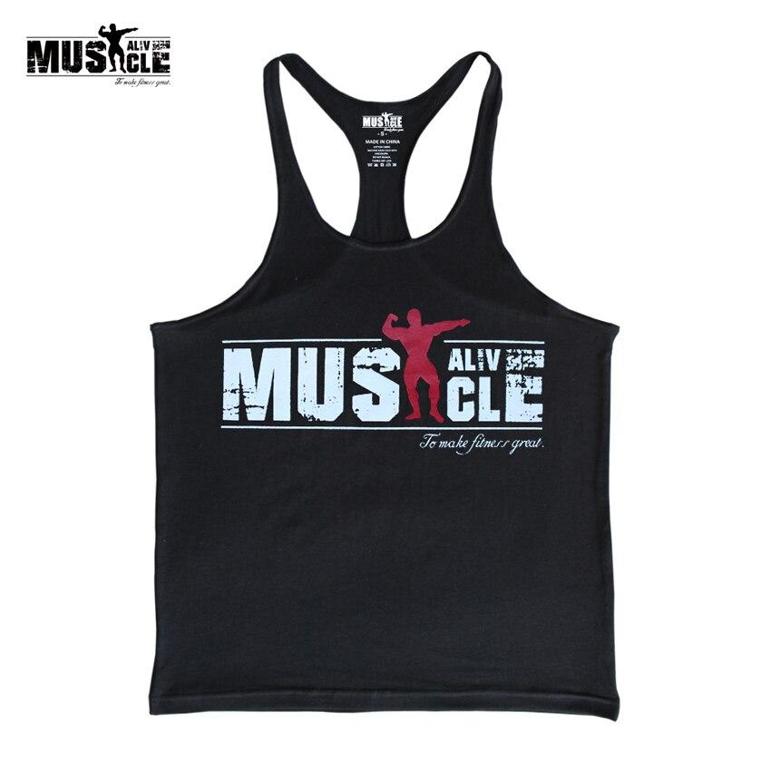 Bodybuilding Tank Top Men Gyms-Clothing Stringer Fitness Gyms Shirt Brand Clothing Muscle Workout Cotton Regatas Masculino Casua