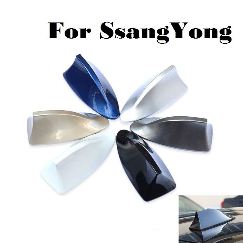 Coche de diseño de aleta de tiburón antena de Radio Auto pegatina para SsangYong Actyon Presidente Korando Kyron Musso Nomad Rexton Tivoli sedan
