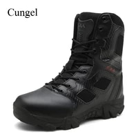 cungel big size 39 47 desert tactical mens boots wear resisting army boots men waterproof outdoor hiking men combat ankle boots