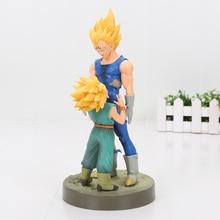 21cm Dragon Ball Z Figure dramatique vitrine 4th saison Super Saiyan végéta troncs PVC Action figurine modèle jouet