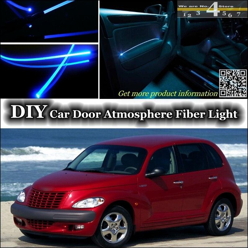 Внутренний окружающий светильник, настраиваемый атмосферный волоконно-оптический ленточный светильник s для Chrysler PT Cruiser, внутренняя панель...