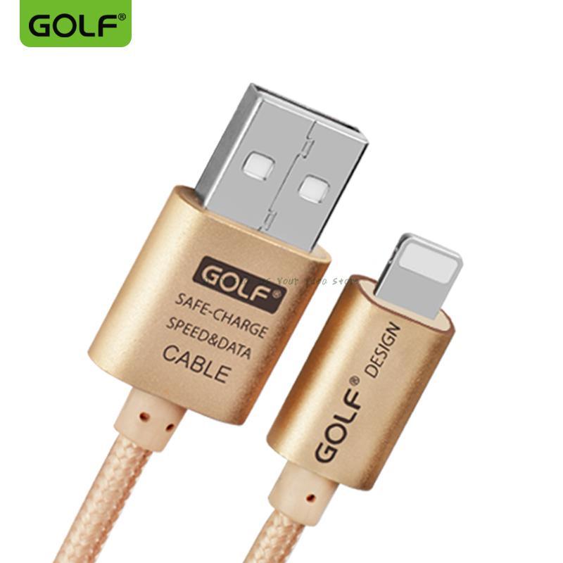 Datos de GOLF sincrónico 2,4 A cable cargador + funda de teléfono para iPhone 7 6 6S plus 5 5S cable móvil USB línea plana para iPhone X 8