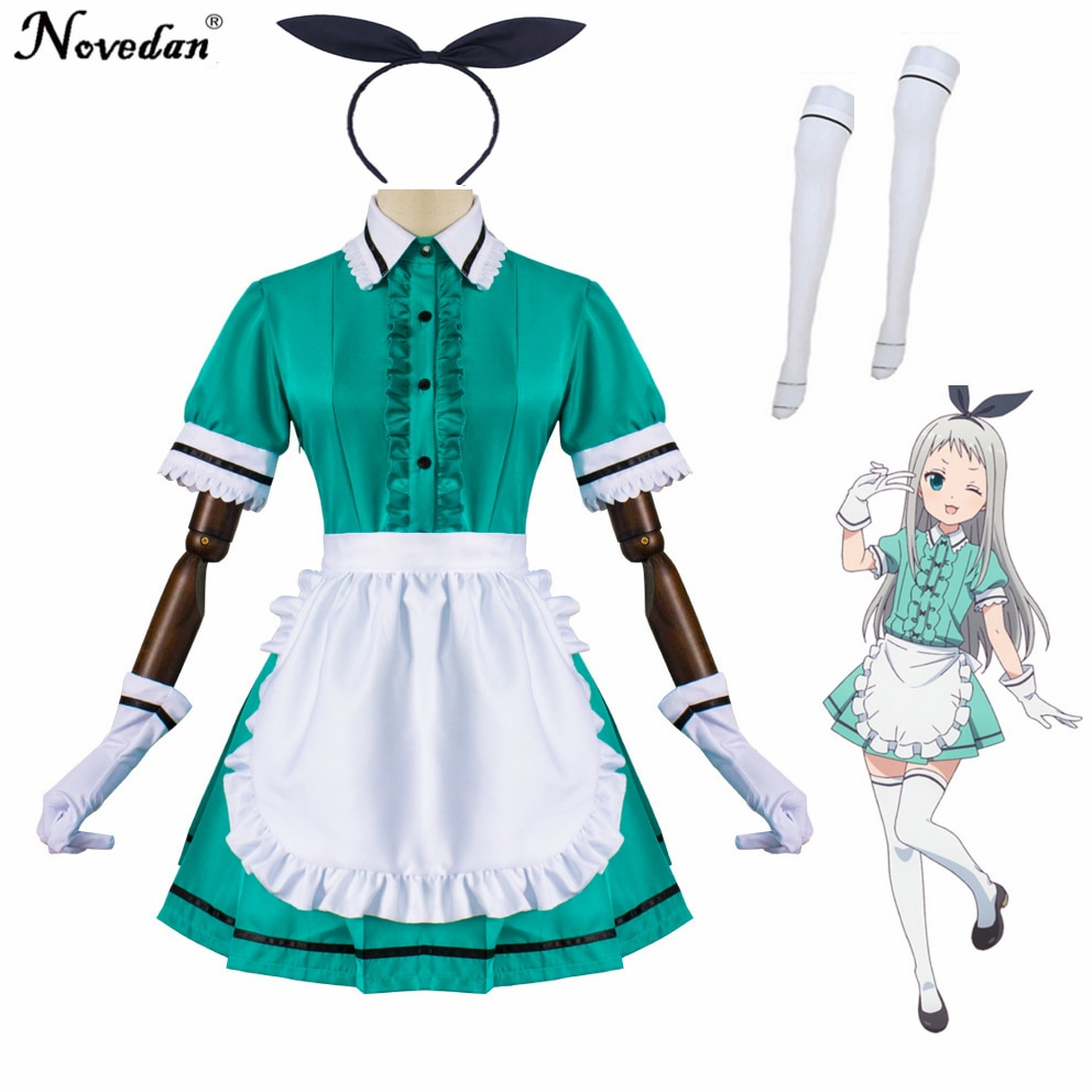 Traje de Cosplay de mezcla Hideri Kanzaki Maika Sakuranomiya uniforme de Anime japonés