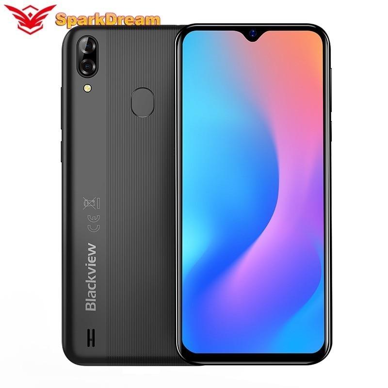 """Blackview a A60 Pro Android Teléfono barato 6.088 """"de agua pantalla 4G LTE 4080mAh Android 9,0 3GB RAM cámara trasera Dual del teléfono celular"""