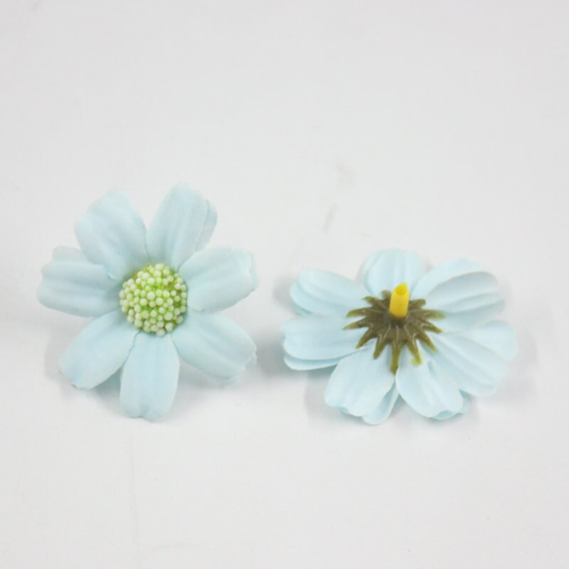 50 UNIDADES/lote Flor Artificial Pequena Crisântemo Cabeca de Flor Da Margarida do Gerbera DIY Flor Artificial Para O casamento Deco