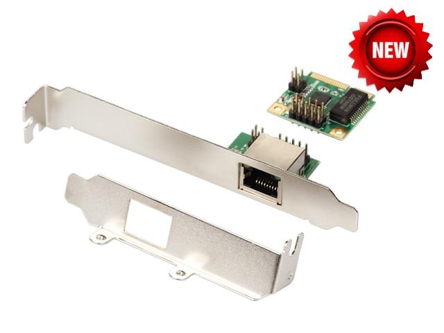 Mini tarjeta de red Ethernet Gigabit PCIe para Mini ITX mini PCI-e A Adaptador de Puerto RJ45 10/100/1000 controlador de red LAN Base T