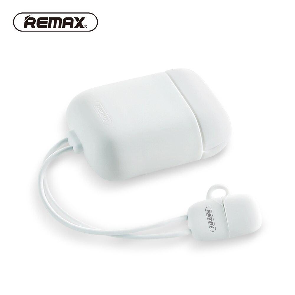 REMAX-cargador de silicona para Airpod, funda protectora antigolpes, funda de piel suave...