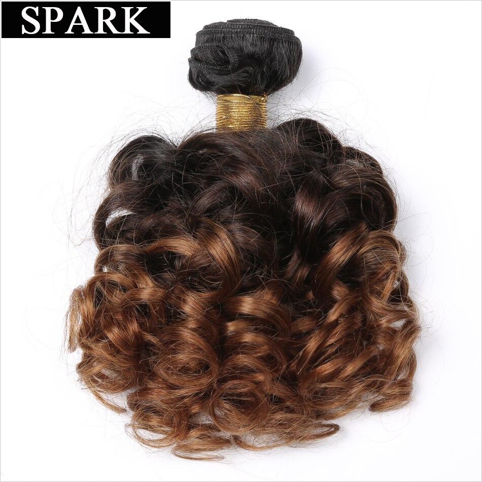 Mechones de pelo brasileño de 3 tonos de Ombre de pelo rizado con chispas 1/3/4 paquetes 1B /4/30 extensiones de cabello humano Remy