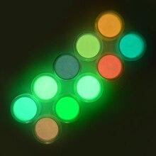 1pc poudre fluorescente bricolage brillant Nail Art lueur dans le sable foncé poudre Pigment poussière lumineux ongles paillettes holographique paillettes