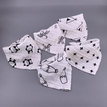 5 pièces/lot Musiln coton bébé bavoirs 4 couches filles garçons Babador Bandana bavoirs Bebe Triangle alimentation roter tissu Bebe col écharpe