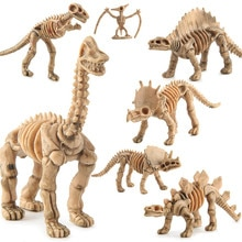 6 Pçs/set Kit Animais Brinquedo Modelo de Simulação Esqueleto Fóssil Jurassic Dinossauro Figuras de Ação Brinquedo Educativo Para As Crianças