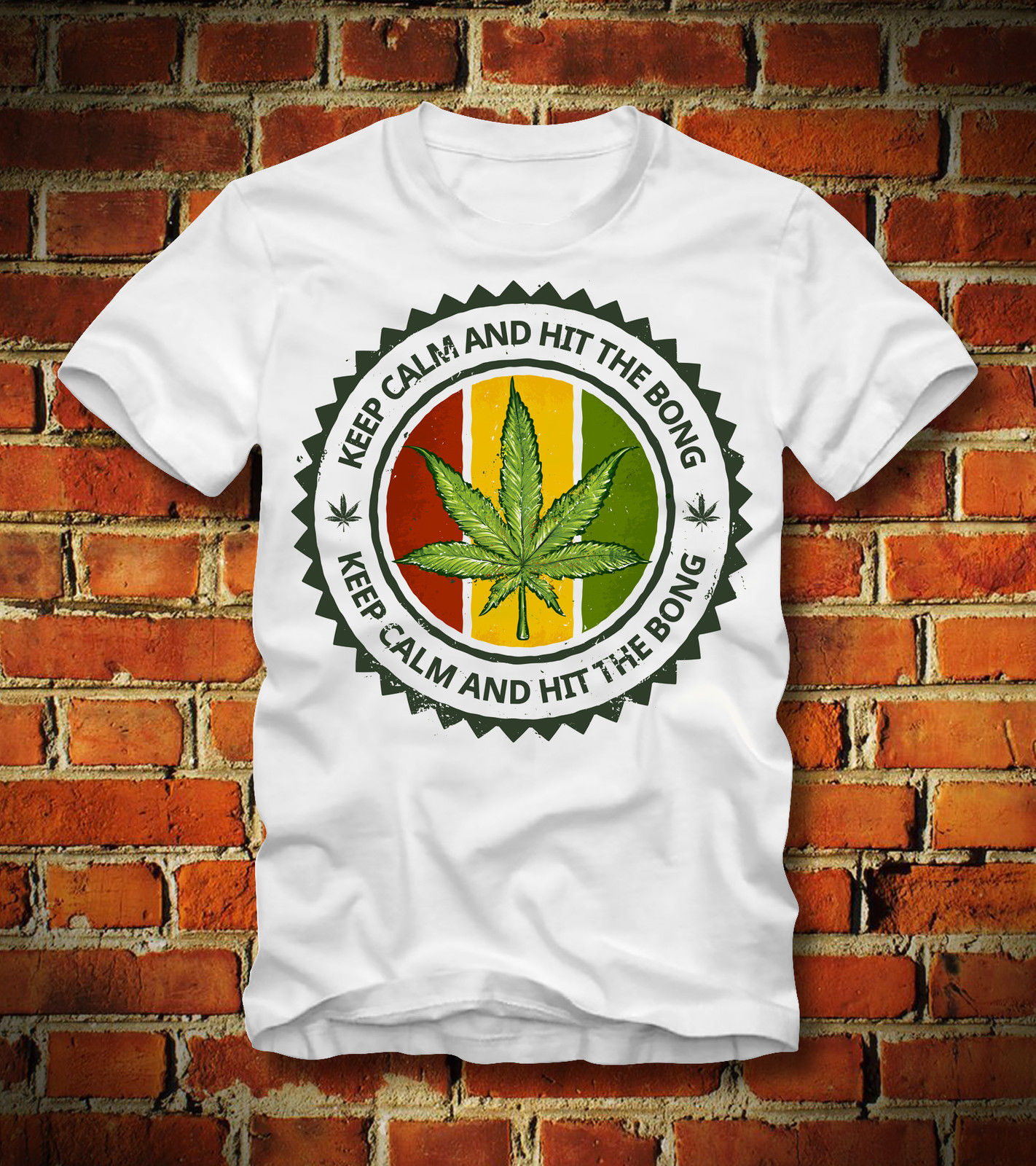 2019 nueva camiseta de verano divertida camiseta KEEP CALM AND HIT THE BONG WEED JOINT POT HI camiseta personalizada