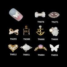 10 unids/pack decoración artística de uñas 3D con diamantes de imitación para uñas de arte joyas de purpurina para uñas tachuelas artísticas TN076-TN955