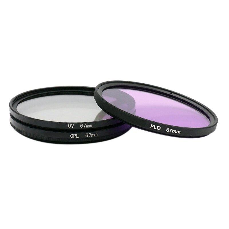 Filtro de cámara 67mm espejo UV polarizador CPL fluorescente FLD profesional Universal CameraFilter Set