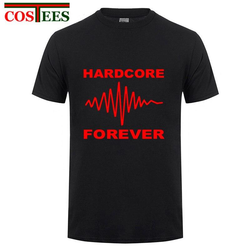 2017 New Hardcore forever wave t shirts men women hardcore  tshirt hardcore t-shirt Thunderdome hardcore  shirt tops hipster tee