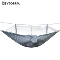 Outdoor Portable Sleeping Hanging Net Hammock Grey Travel Garden Hamak Bed Camping Chair Folding Furniture Hamak