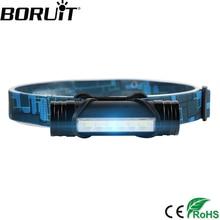 BORUiT 6 LED 3000 lumens Min phare 3-Mode Rechargeable phare batterie externe lampe de poche pêche chasse frontale lanterne torche
