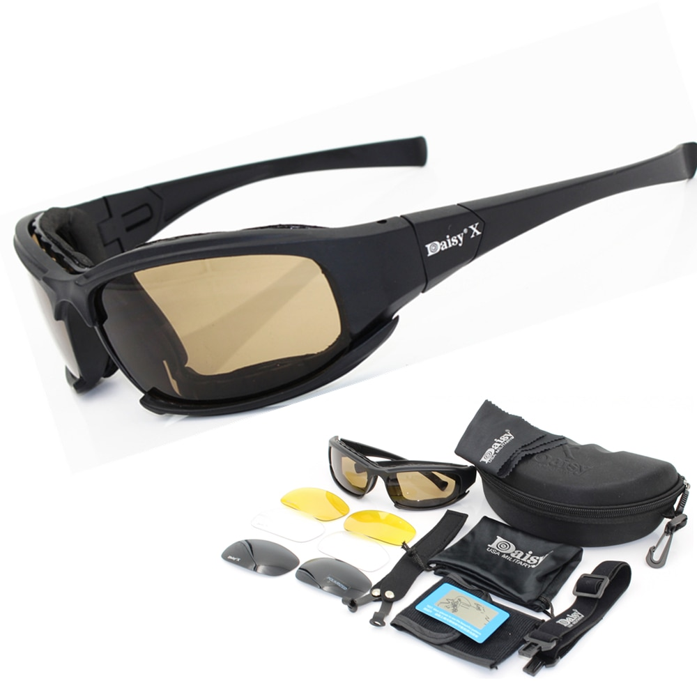 Daisy X7 Military Bullet-proof Army Polarized Sunglasses Shooting Airsoft Tactical Eyewear goggles g