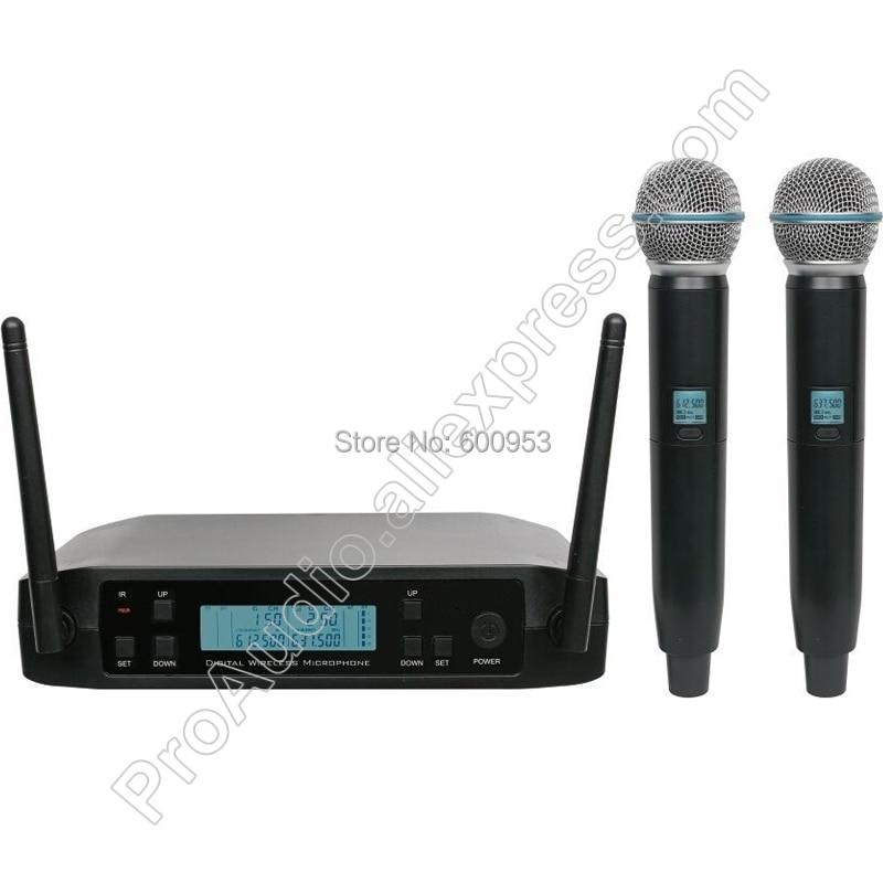 Micrófono de mano dinámico inalámbrico micanl UHF BLX24 SM 2 canales Frecuencia...