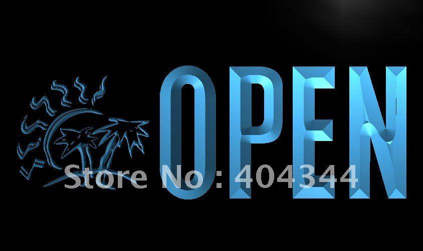 LK773-bronceado abierto Tan palmera letrero de neón con luz LED manualidades decorativas para el hogar