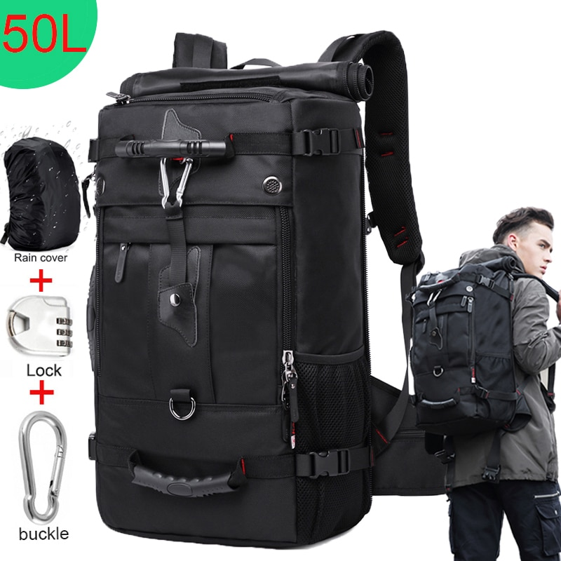 KAKA 50L Waterproof Travel Backpack Men Women Multifunction 17.3 Laptop Backpacks Male outdoor Luggage Bag mochilas Best quality