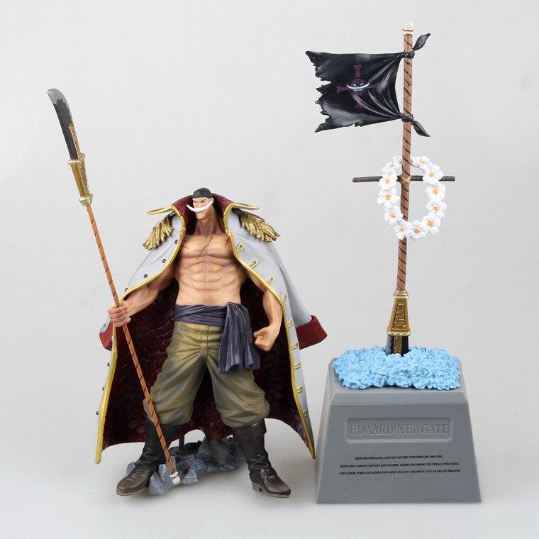 Anime One Piece DXF Edward Newgate & lápida blanca barba emperadores PVC figuras de acción coleccionable juguetes modelo