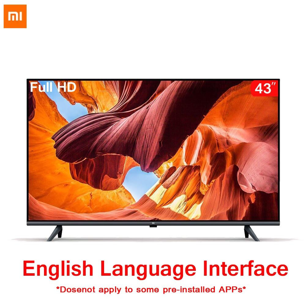 Original Xiaomi Tv 43 pulgadas E43A sin fronteras PANTALLA FULL HD TV 1GB + 8GB de memoria Anti-estática AI Control de voz de sonido Dolby DTS